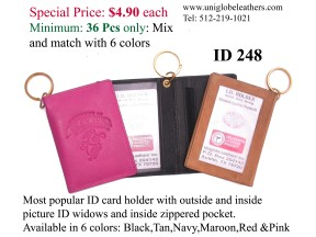 ID 248: The best seller leather ID holder embossed with your logo