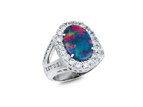 Black Opal Ring: OR-10092