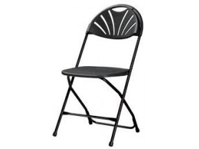 Cosco Commercial Heavy Duty, Injection Mold Fan Back Folding Chair with Comfortable Contoured Back