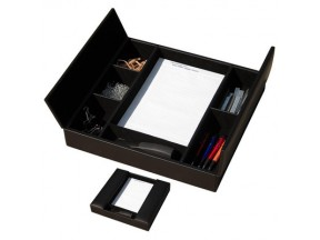 Leather Conference Room Organizer