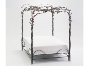 Rose Forest Canopy Bed