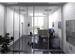 487 Series Office Partition with Integrated Slider