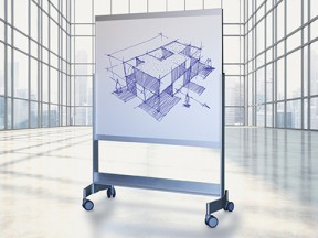 eisysVISUAL VIP Mobile Whiteboard