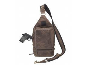 Distressed Buffalo Leather Sling Backpack